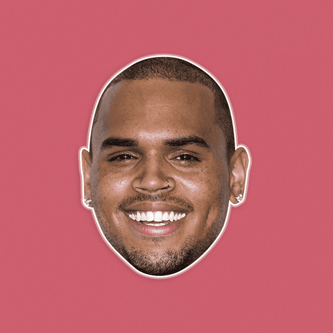 Happy Chris Brown Mask - Perfect for Halloween, Costume Party Mask, Masquerades, Parties, Festivals, Concerts - Jumbo Size Waterproof Laminated Mask
