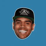 Smiling Hat Chris Brown Mask - Perfect for Halloween, Costume Party Mask, Masquerades, Parties, Festivals, Concerts - Jumbo Size Waterproof Laminated Mask