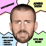 Disgusted Chris Evans Mask - Perfect for Halloween, Costume Party Mask, Masquerades, Parties, Festivals, Concerts - Jumbo Size Waterproof Laminated Mask