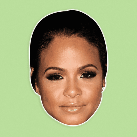 Sad Christina Milian Mask - Perfect for Halloween, Costume Party Mask, Masquerades, Parties, Festivals, Concerts - Jumbo Size Waterproof Laminated Mask