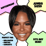 Cool Christina Milian Mask - Perfect for Halloween, Costume Party Mask, Masquerades, Parties, Festivals, Concerts - Jumbo Size Waterproof Laminated Mask