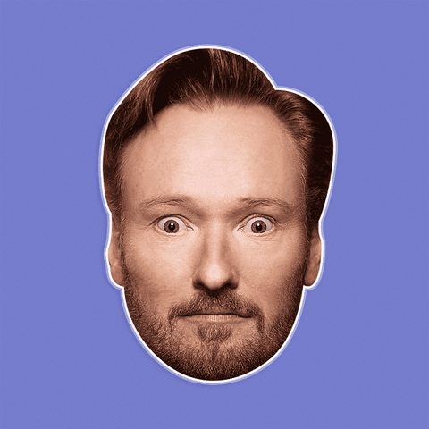Surprised Conan O'Brien Mask by RapMasks