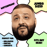 Excited DJ Khaled Mask - Perfect for Halloween, Costume Party Mask, Masquerades, Parties, Festivals, Concerts - Jumbo Size Waterproof Laminated Mask