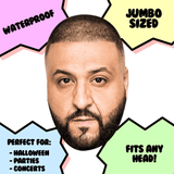 Sexy DJ Khaled Mask - Perfect for Halloween, Costume Party Mask, Masquerades, Parties, Festivals, Concerts - Jumbo Size Waterproof Laminated Mask