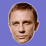 Bored Daniel Craig Mask - Perfect for Halloween, Costume Party Mask, Masquerades, Parties, Festivals, Concerts - Jumbo Size Waterproof Laminated Mask
