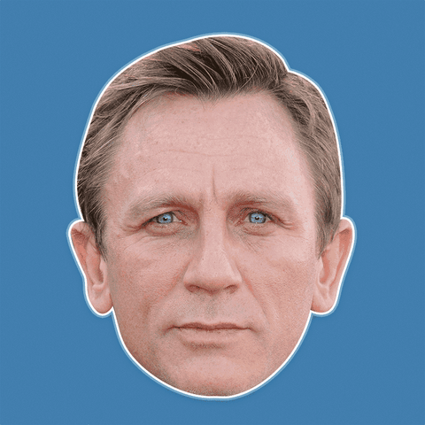 Neutral Daniel Craig Mask - Perfect for Halloween, Costume Party Mask, Masquerades, Parties, Festivals, Concerts - Jumbo Size Waterproof Laminated Mask