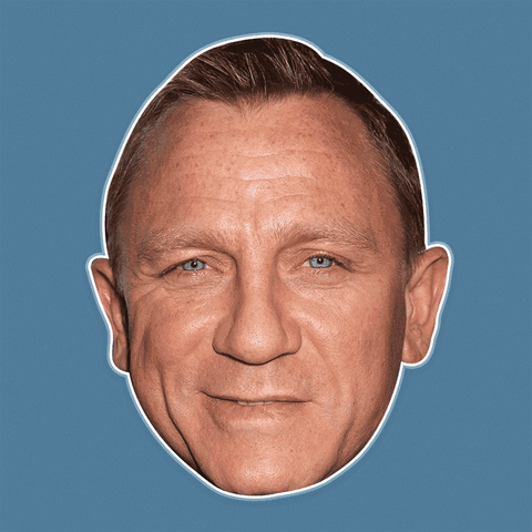 Silly Daniel Craig Mask - Perfect for Halloween, Costume Party Mask, Masquerades, Parties, Festivals, Concerts - Jumbo Size Waterproof Laminated Mask