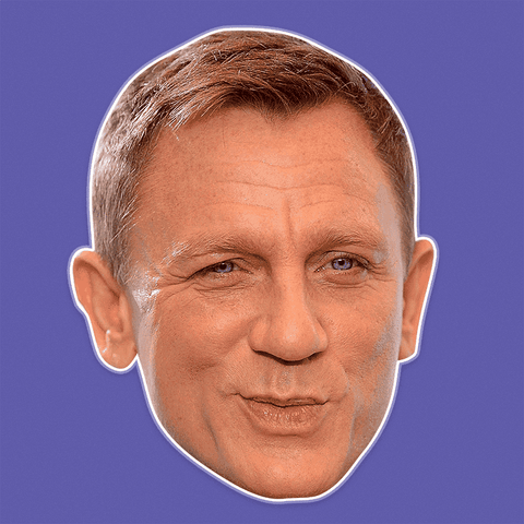 Surprised Daniel Craig Mask - Perfect for Halloween, Costume Party Mask, Masquerades, Parties, Festivals, Concerts - Jumbo Size Waterproof Laminated Mask