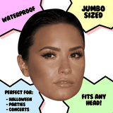 Bored Demi Lovato - Perfect for Halloween, Costume Party Mask, Masquerades, Parties, Festivals, Concerts - Jumbo Size Waterproof Laminated Mask