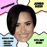 Neutral Demi Lovato Mask - Perfect for Halloween, Costume Party Mask, Masquerades, Parties, Festivals, Concerts - Jumbo Size Waterproof Laminated Mask