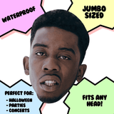 Bored Desiigner Rapper Mask - Perfect for Halloween, Costume Party Mask, Masquerades, Parties, Festivals, Concerts - Jumbo Size Waterproof Laminated Mask