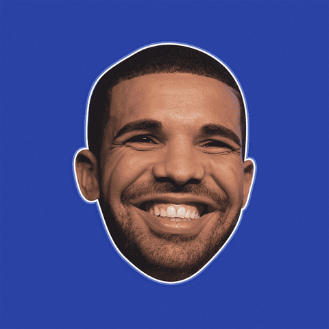 Excited Drake Mask - Perfect for Halloween, Costume Party Mask, Masquerades, Parties, Festivals, Concerts - Jumbo Size Waterproof Laminated Mask