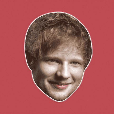Happy Ed Sheeran Mask - Perfect for Halloween, Costume Party Mask, Masquerades, Parties, Festivals, Concerts - Jumbo Size Waterproof Laminated Mask