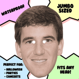 Cool Eli Manning Mask - Perfect for Halloween, Costume Party Mask, Masquerades, Parties, Festivals, Concerts - Jumbo Size Waterproof Laminated Mask