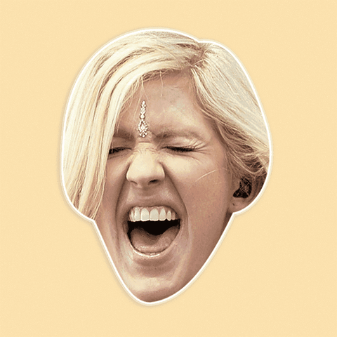 Excited Ellie Goulding Mask - Perfect for Halloween, Costume Party Mask, Masquerades, Parties, Festivals, Concerts - Jumbo Size Waterproof Laminated Mask