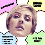 Bored Ellie Goulding Mask - Perfect for Halloween, Costume Party Mask, Masquerades, Parties, Festivals, Concerts - Jumbo Size Waterproof Laminated Mask