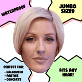 Neutral Ellie Goulding Mask - Perfect for Halloween, Costume Party Mask, Masquerades, Parties, Festivals, Concerts - Jumbo Size Waterproof Laminated Mask