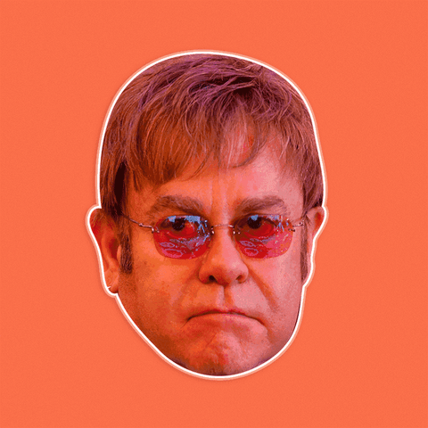 Angry Elton John Mask by RapMasks