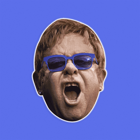 Disgusted Elton John Mask by RapMasks