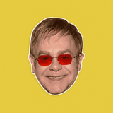 Happy Elton John Mask - Perfect for Halloween, Costume Party Mask, Masquerades, Parties, Festivals, Concerts - Jumbo Size Waterproof Laminated Mask