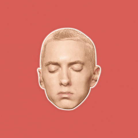 Sleepy Eminem Mask - Perfect for Halloween, Costume Party Mask, Masquerades, Parties, Festivals, Concerts - Jumbo Size Waterproof Laminated Mask