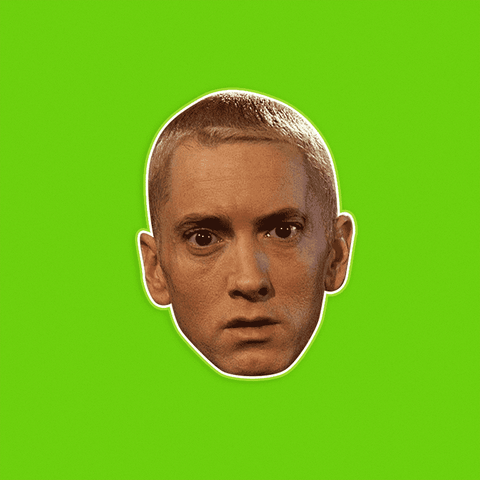 Worried Eminem Mask - Perfect for Halloween, Costume Party Mask, Masquerades, Parties, Festivals, Concerts - Jumbo Size Waterproof Laminated Mask
