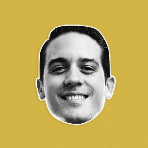 Smiling G Eazy Mask - Perfect for Halloween, Costume Party Mask, Masquerades, Parties, Festivals, Concerts - Jumbo Size Waterproof Laminated Mask