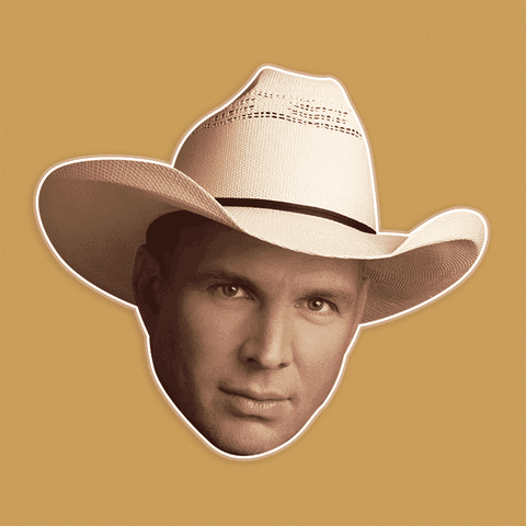 Cool Garth Brooks Mask - Perfect for Halloween, Costume Party Mask, Masquerades, Parties, Festivals, Concerts - Jumbo Size Waterproof Laminated Mask