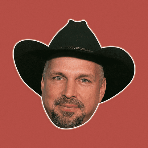 Excited Garth Brooks Mask by RapMasks