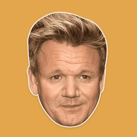 Sad Gordon Ramsay Mask - Perfect for Halloween, Costume Party Mask, Masquerades, Parties, Festivals, Concerts - Jumbo Size Waterproof Laminated Mask
