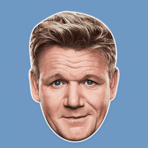 Serious Gordon Ramsay Mask - Perfect for Halloween, Costume Party Mask, Masquerades, Parties, Festivals, Concerts - Jumbo Size Waterproof Laminated Mask