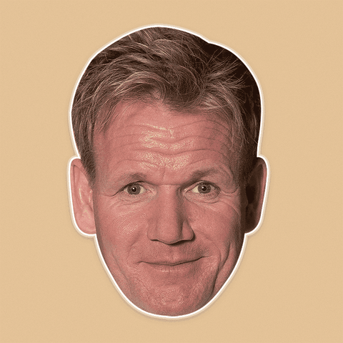 Silly Gordon Ramsay Mask - Perfect for Halloween, Costume Party Mask, Masquerades, Parties, Festivals, Concerts - Jumbo Size Waterproof Laminated Mask