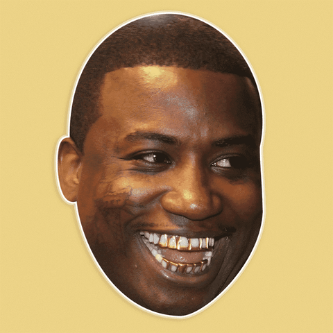 Happy Gucci Mane Mask - Perfect for Halloween, Costume Party Mask, Masquerades, Parties, Festivals, Concerts - Jumbo Size Waterproof Laminated Mask