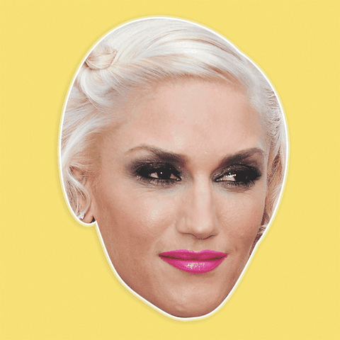 Confused Gwen Stefani Mask - Perfect for Halloween, Costume Party Mask, Masquerades, Parties, Festivals, Concerts - Jumbo Size Waterproof Laminated Mask