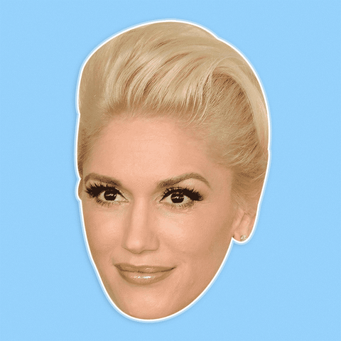 Disgusted Gwen Stefani Mask - Perfect for Halloween, Costume Party Mask, Masquerades, Parties, Festivals, Concerts - Jumbo Size Waterproof Laminated Mask