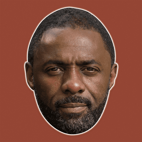 Angry Idris Elba Mask - Perfect for Halloween, Costume Party Mask, Masquerades, Parties, Festivals, Concerts - Jumbo Size Waterproof Laminated Mask
