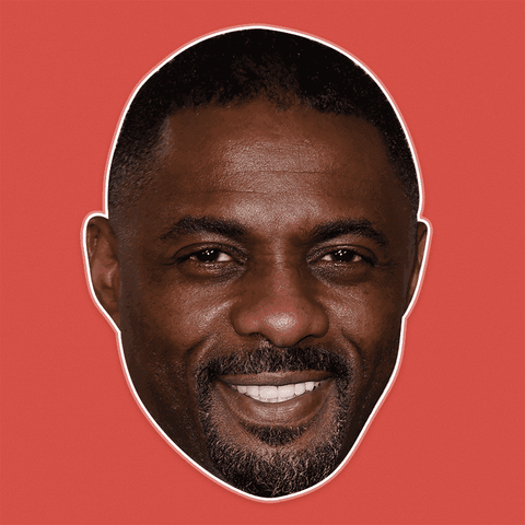 Cool Idris Elba Mask - Perfect for Halloween, Costume Party Mask, Masquerades, Parties, Festivals, Concerts - Jumbo Size Waterproof Laminated Mask