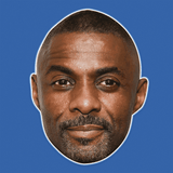 Disgusted Idris Elba Mask - Perfect for Halloween, Costume Party Mask, Masquerades, Parties, Festivals, Concerts - Jumbo Size Waterproof Laminated Mask