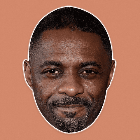 Sad Idris Elba Mask - Perfect for Halloween, Costume Party Mask, Masquerades, Parties, Festivals, Concerts - Jumbo Size Waterproof Laminated Mask