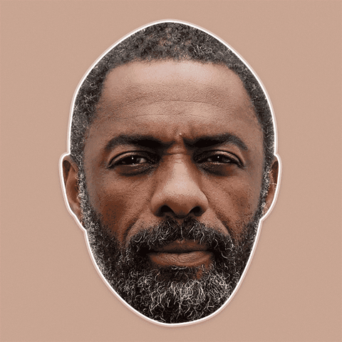 Serious Idris Elba Mask - Perfect for Halloween, Costume Party Mask, Masquerades, Parties, Festivals, Concerts - Jumbo Size Waterproof Laminated Mask
