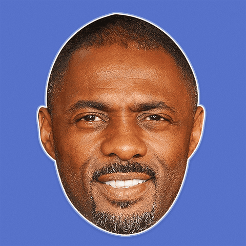 Sexy Idris Elba Mask - Perfect for Halloween, Costume Party Mask, Masquerades, Parties, Festivals, Concerts - Jumbo Size Waterproof Laminated Mask