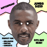 Bored Idris Elba Mask - Perfect for Halloween, Costume Party Mask, Masquerades, Parties, Festivals, Concerts - Jumbo Size Waterproof Laminated Mask