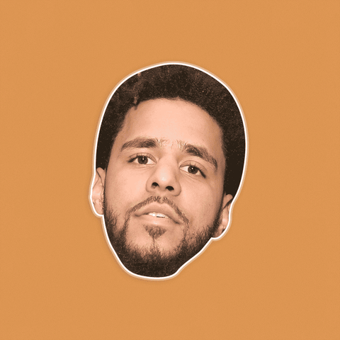 Serious J Cole Mask - Perfect for Halloween, Costume Party Mask, Masquerades, Parties, Festivals, Concerts - Jumbo Size Waterproof Laminated Mask