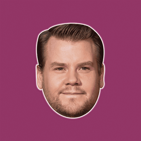 Cool James Corden Mask - Perfect for Halloween, Costume Party Mask, Masquerades, Parties, Festivals, Concerts - Jumbo Size Waterproof Laminated Mask