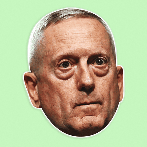 Angry James Mattis Mask - Perfect for Halloween, Costume Party Mask, Masquerades, Parties, Festivals, Concerts - Jumbo Size Waterproof Laminated Mask
