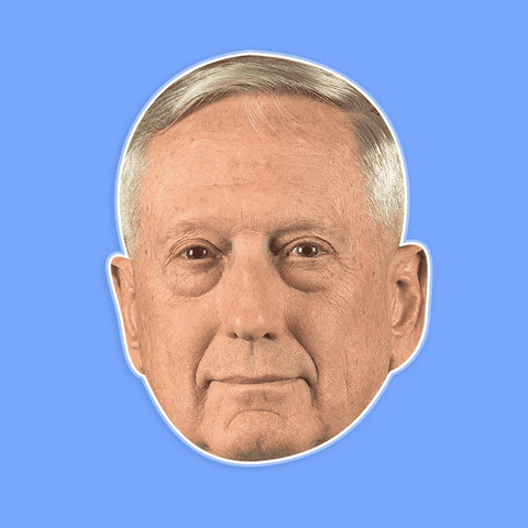 Cool James Mattis Mask - Perfect for Halloween, Costume Party Mask, Masquerades, Parties, Festivals, Concerts - Jumbo Size Waterproof Laminated Mask