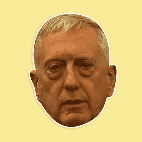 Silly James Mattis Mask - Perfect for Halloween, Costume Party Mask, Masquerades, Parties, Festivals, Concerts - Jumbo Size Waterproof Laminated Mask