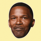 Confused Jamie Foxx Mask - Perfect for Halloween, Costume Party Mask, Masquerades, Parties, Festivals, Concerts - Jumbo Size Waterproof Laminated Mask