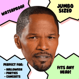 Cool Jamie Foxx Mask - Perfect for Halloween, Costume Party Mask, Masquerades, Parties, Festivals, Concerts - Jumbo Size Waterproof Laminated Mask