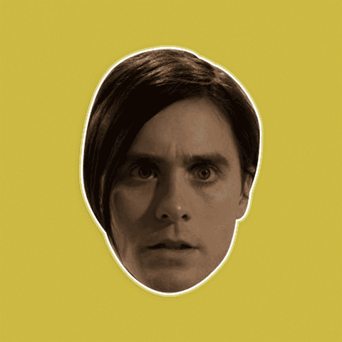 Confused Jared Leto Mask by RapMasks